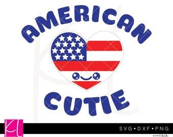 American Cutie svg, 4th of July svg, Forth of July svg, Patriotic svg, Cute 4th of July Shirt svg, Girl 4th of July svg, Boy 4th of July svg