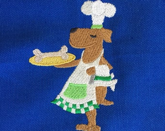 Puppy Dog Chef Apron Child Royal Blue