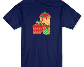 Colorful Christmas Gifts  Men's Navy T-shirt