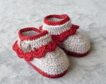Baby Girl Boots, Girl Shoes, Girl Winter Shoes, Crochet Booties, Crochet Girl Shoes, Girl Booties, Photo Prop, Nursery, Baby Shower Gift