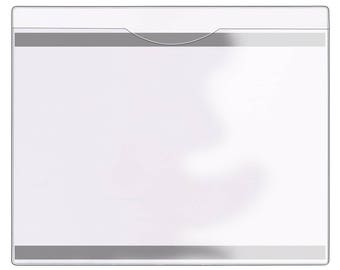 File Jacket with Magnetic Back - 5-Pack - Clear Plastic - Heavy Duty - FJ85STCM-5