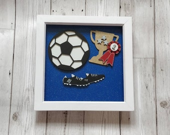 Boy's football frame. Personalised with name