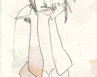 Print of an original drawing - Zita wondering