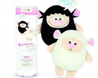 Plushie Kullaloo Kit lari white and black sheep