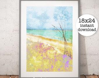Beach Print, Ocean Art, Ocean Waves, Ocean Water Print, Coastal Wall Art, Beach Art, Water Print, Home Decor, Digital Download