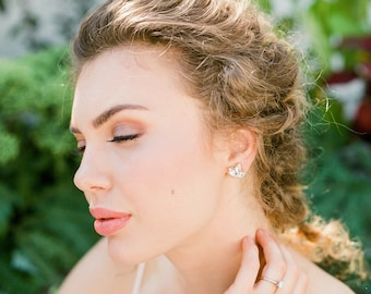 Renee Crystal Stud Earrings