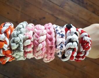 Woven crochet bracelets
