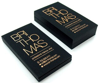 Black Business Cards - 700gsm- Foil on single side