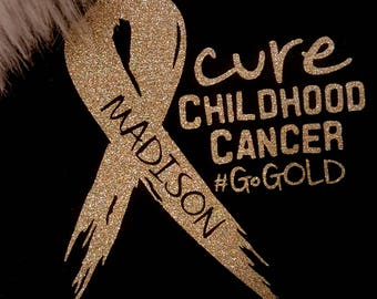 Personalized Cure Childhood Cancer Tee