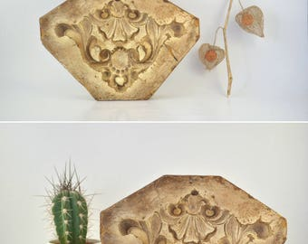 Architectural Ornament Mold, Plaster Casting Mold, Baroque Molding, Decorative Leaf Moulding, Floral Plaque Display, Romantic Decor