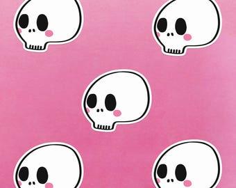 Skull Gloss Sticker | Kawaii Cute Halloween Stickers
