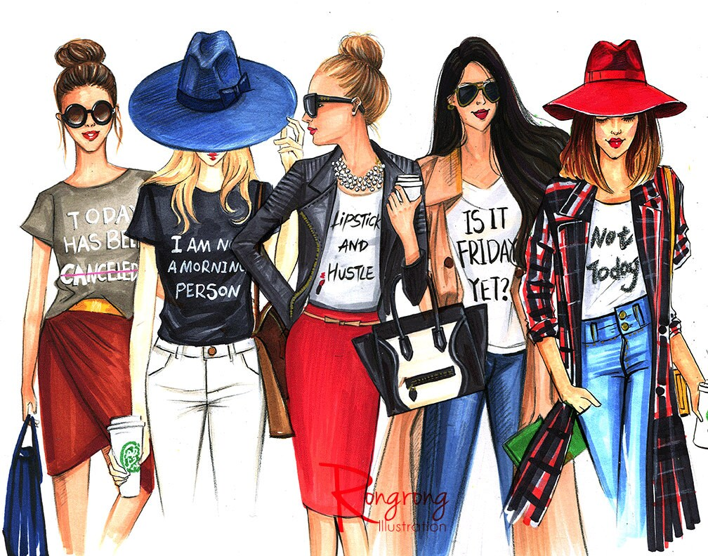 Limited Edition Fashion IllustrationFashion ArtFashion Wall