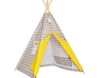 Teepee Tent - Yellow Dots