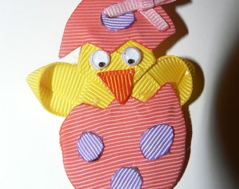Easter chick hair clip