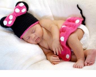 Minnie Mouse Newborn Costume