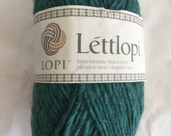 ICELANDIC LOPI WOOL Lettlopi from Iceland - Knitting - Icelandic Sweater - Teal Forest Green
