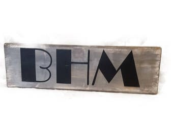 BHM, Birmingham Block Sign