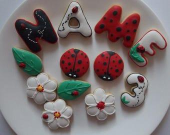 Ladybug cookie bites