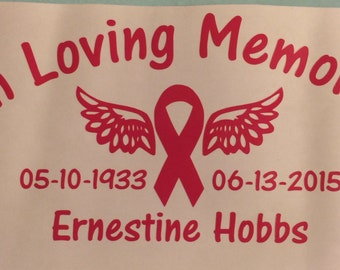In Loving Memory Breast Cancer Sticker Vinyl Decal