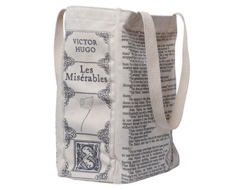 Les Miserables Book Tote - Victor Hugo, Tote Bag, Literary, Book Lover, Books, Literature, Teacher Gift, Gift for Reader