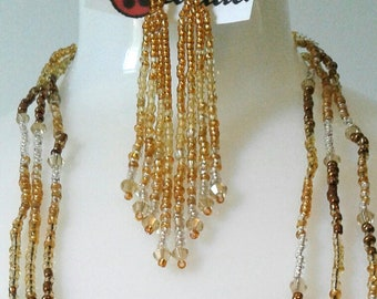 Stassey Earings, Antique Gold