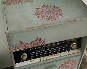 Cabinet radio,Antique radio,Vintage Radio,Vintage Decor,Old Radio,Mandala radio,Resprom radio,Communism radio,
