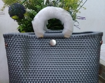 Silver Handcrafted Bag
