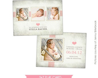 INSTANT DOWNLOAD - Birth announcement template - Sweet Stella - E354