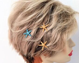 Starfish Bobby Pins, set of 3