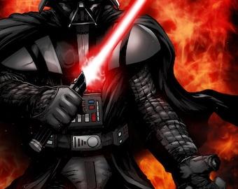 Lord Darth Vader Print by Hanzozuken