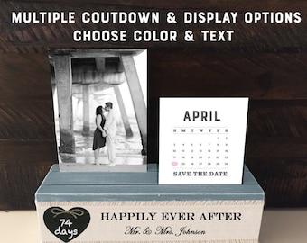 Wedding Countdown Engagement Gift, Personalized Wedding Shower Gift, Future Mr and Mrs Name Wedding Keepsake Holder Bride Planner Chalkboard