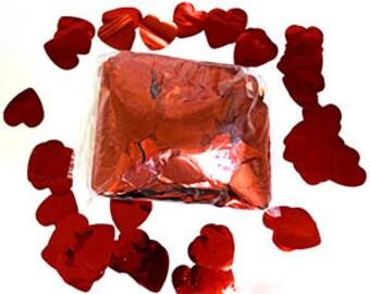 Red Metallic Hearts