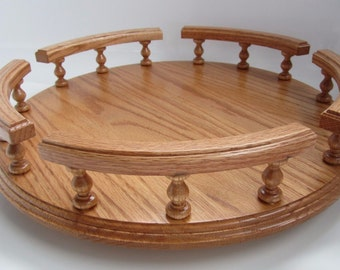 """Amish 16"""" Handcrafted Lazy Susan Turntable"""