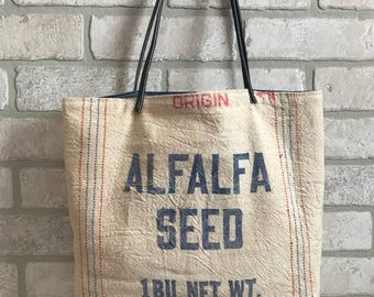 Alfalfa Feed Sack Purse Tote Handbag