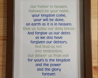 Lord's Prayer 5x7 Printable Matthew 6:9-13
