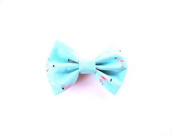 Hair Bow / Bow Tie / Flamingo Bow Hair Clip / Flamingo Bow Tie / Flamingo Bow / Flamingo Hair Bow / Flamingo Bow Tie / Flamingo Hair Clip