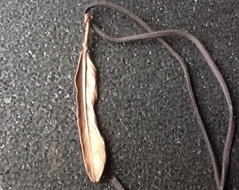 Electroformed copper feather