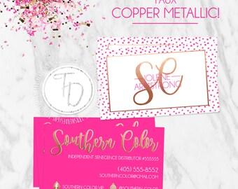 LipSense Business Card Printable, SeneGence Business Card, Copper Business Card, Business Card, LipSense Branding Kit, LipSense How to Apply