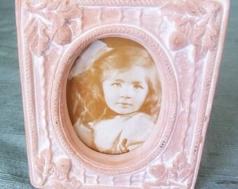 Vintage, cadre photo en céramique, cadre photo rectangulaire, petit Vintage cadre Photo, décoration, cadre Photo rétro, cadre Photo, cadre Vintage,