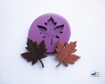 Maple Leaf Mold - Fall Leaf Mold - Silicone Molds - Polymer Clay Resin Fondant Candy