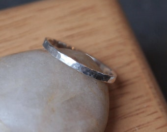 Sterling silver ring, skinny stacking ring, handmade by arc jewellery UK