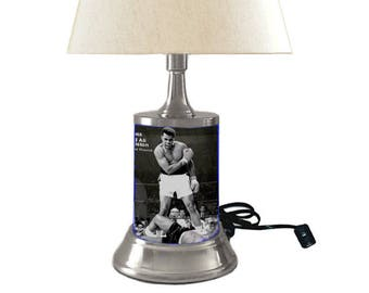Muhammad Ali Lamp with chrome shade