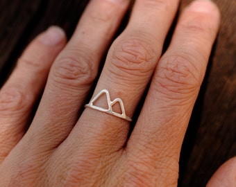 Wire Mountain Range Ring | Sterling Silver