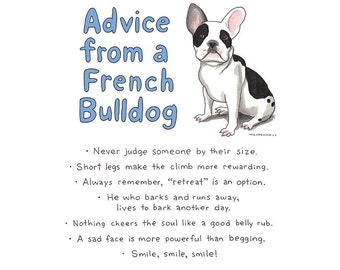 French Bulldog Gift, Frenchie Lover Gift, Dog Owner Quotes, Happy Funny Art, Dog Gift Girlfriend, Funny Dog Decor Gift, Motivational Art
