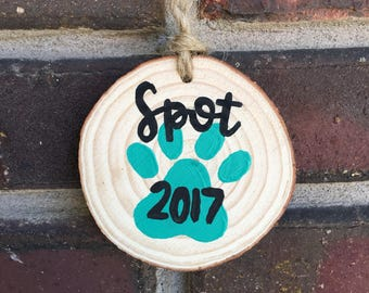 Pet ornament- personalized pet ornament- dog christmas ornament- custom dog ornament- pet gift- wood ornament- dog ornament cat ornament-pet