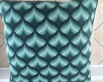 Hunter Green Bargello Pillow