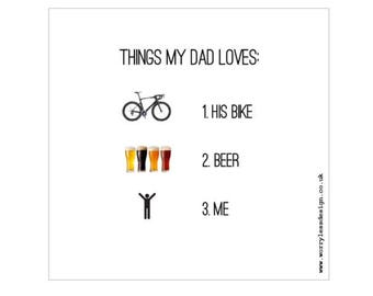 Father's Day Card - Things my Dad Loves