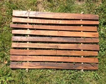 Welcome door mat, wood door mat, slat mat, rustic wood door mat,indoor/outdoor door mat,door mat,rope door mat,bathroom mat,bath mat