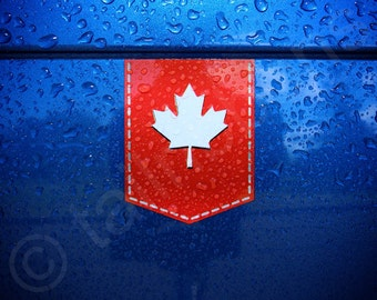 "Canada Maple Leaf sticker - 1 3/8"" x 1 3/4"" - Vinyl Decal Car Canadian Emblem Badge"