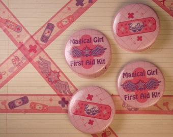 Magical Girl First Aid Flair Buttons